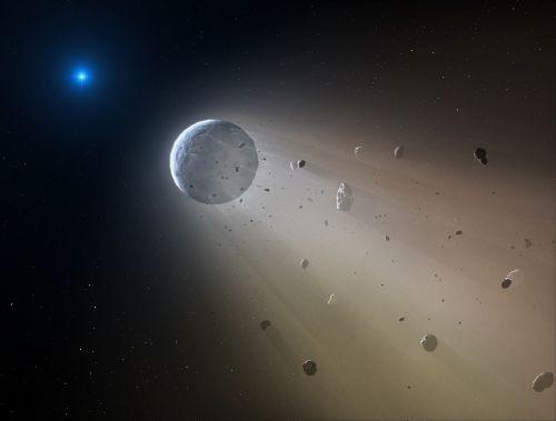 La planète naine brisée par une étoile morte