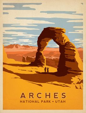 Art & Soul of America: Arches National Park Gallery Print - midcentury - Fine Art Prints - Anderson Design Group