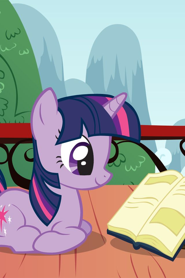 Twilight Sparkle my favorite character on MLP because she loves to read!
