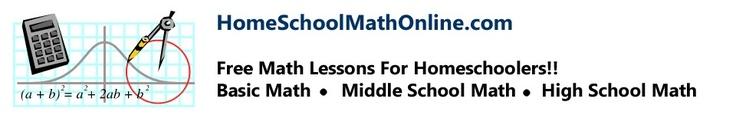 Free Homeschool Math Courses   free homeschool math courses to include pre-algebra, algebra, geometry and algebra 2