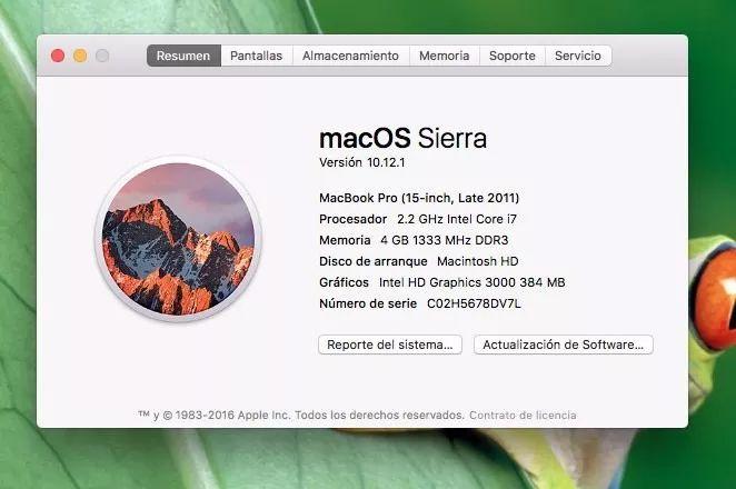 macbook pro 15  4gb ram intel core i 7 a 2.2 ghz late 2011