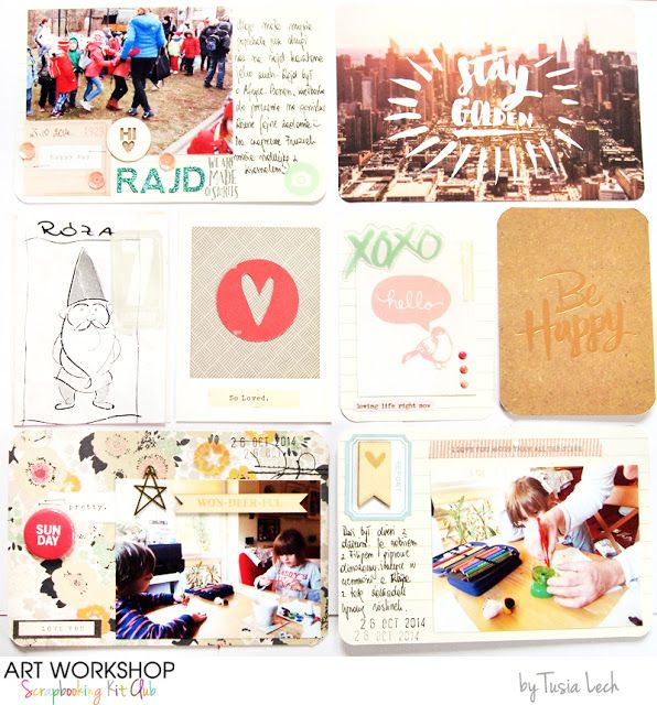 for Art Workshop Kit Club by Tusia Lech (October 2014 Pocket Life kit)