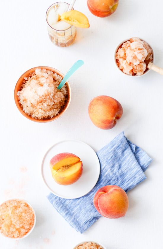 Sweet Peach Tea Granita | Pop any leftovers back in the freezer and rake with a fork again when youre ready to eat another bowlful. @brittnimehlhoff