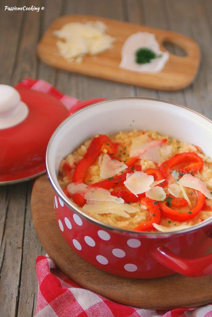 Risotto con peperoni al forno e parmigiano  http://blog.giallozafferano.it/passionecooking/risotto-peperoni-al-forno/