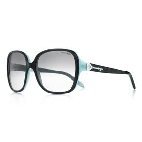 Tiffany Keys square sunglasses in black and Tiffany Blue® acetate.