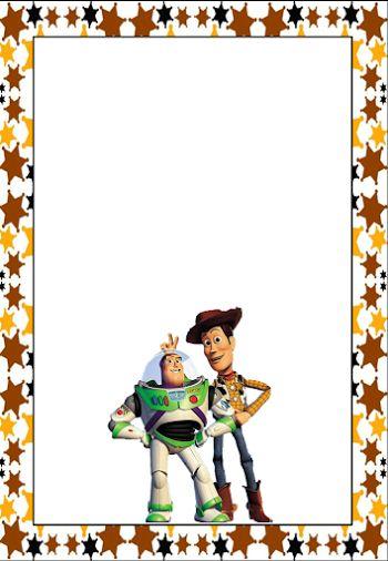 Marcos, Invitaciones, Tarjetas o Etiquetas de Toy Story para Imprimir Gratis.