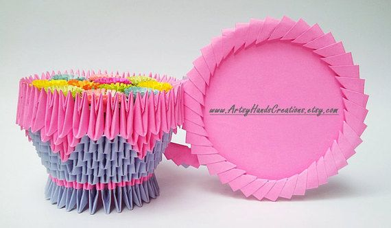 3d Origami Teacup 3d Origami Cup Paper by ArtsyHandsCreations