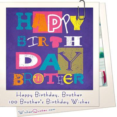 Happy Birthday, Brother