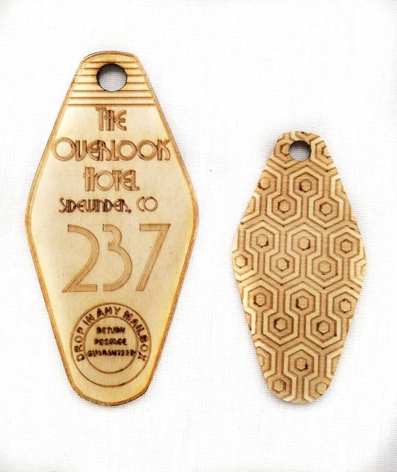 The Overlook Hotel Key Chain Room 237 Or 217 Etsy In 2021 Overlook Hotel Room 237 Wood Keychain