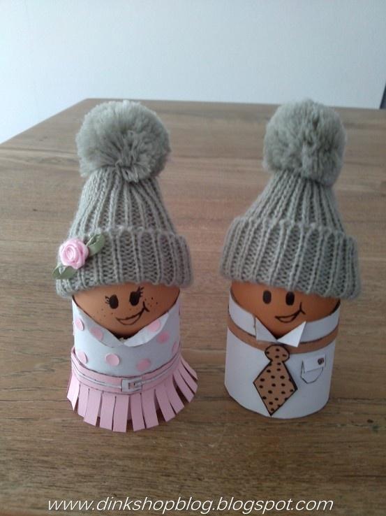 paas ontbijt eierdopjes echtpaar.. http://dinkshopblog.blogspot.nl/