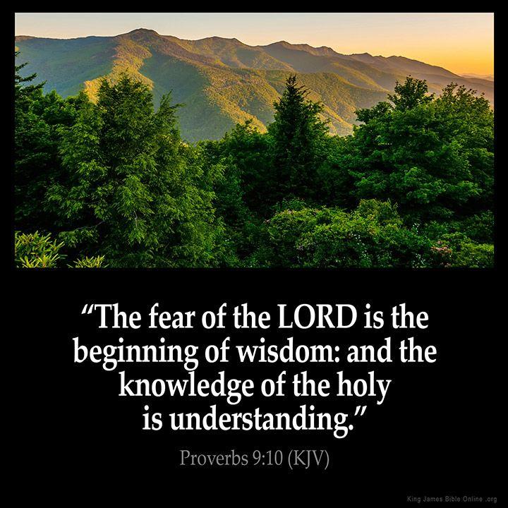 king james scriptures | Proverbs 9:10 Inspirational Image