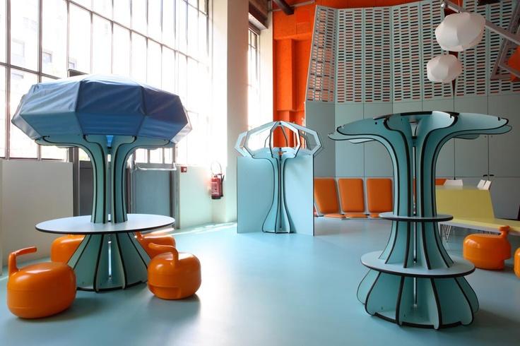 La maison des petits au 104, 5 rue Curial 75019 Paris par Matali Crasset