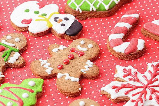 Close-up of Christmas homemade gingerbread cookies by Nadya&Eugene Photography #Christmas #Gingerbread #Christamscookies #NadyaEugenePhotography