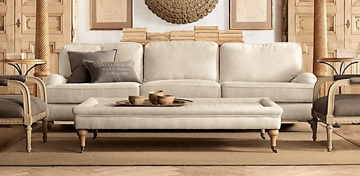English Roll Arm Sofa From Restoration Hardware Home Garden Furniture And Lighting