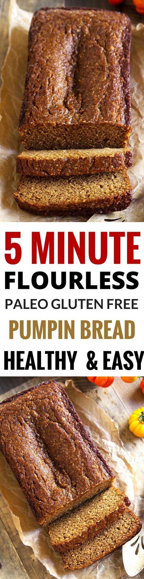 Best Paleo Pumpkin bread great for breakfast! Easy, healthy pumpkin bread recipe. Gluten free, grain free, dairy free paleo pumpkin bread. Easy Gluten Free breakfast food. Healthy baking.