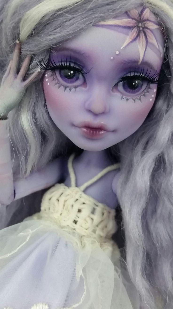 Custom Monster High Lagoona Blue Doll OOAK Repaint by Skeriosties by skeriosities on Etsy