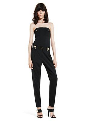 Versace - TAILORED STRAPLESS JUMPSUIT
