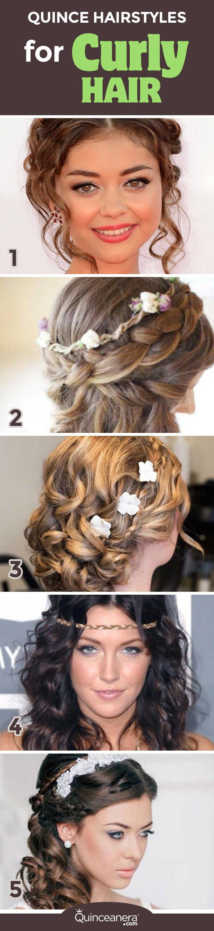 205 best Quinceanera Hairstyles images on Pinterest