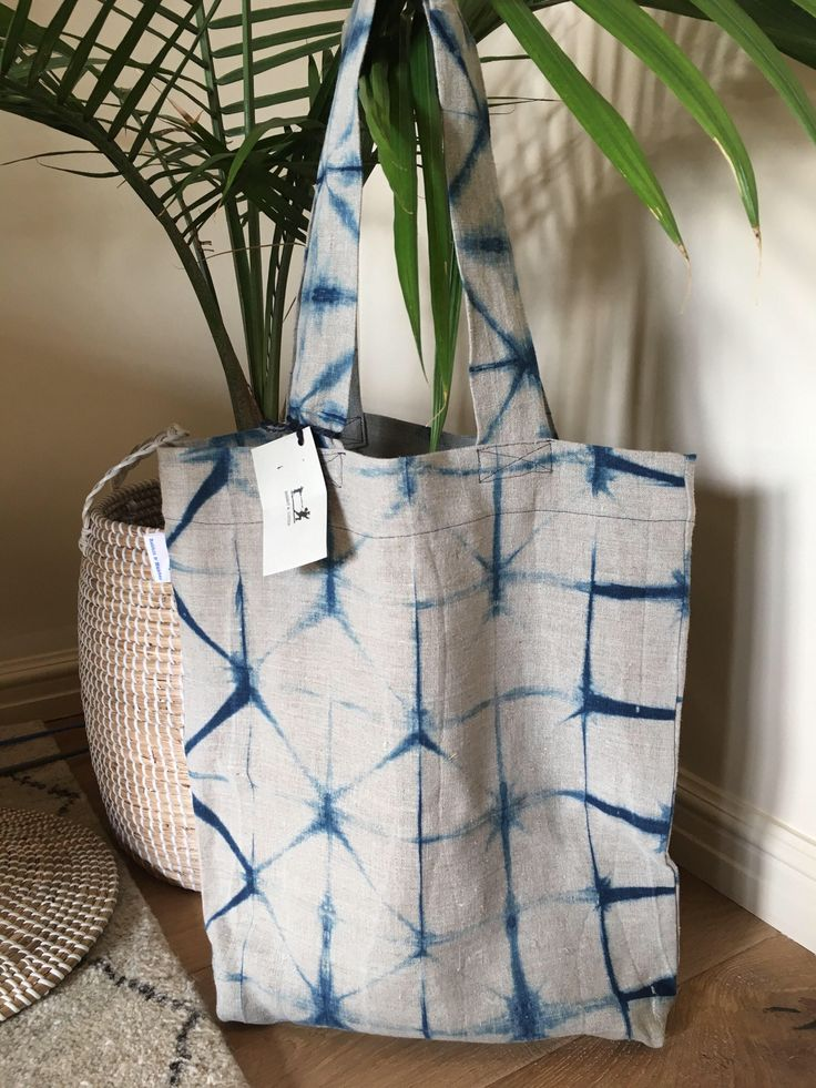 A personal favourite from my Etsy shop https://www.etsy.com/au/listing/534214738/linen-shibori-tote-bag