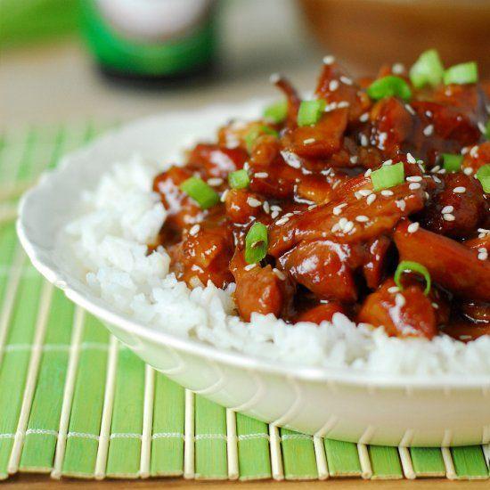 Slow cooker honey sesame chicken -easy!