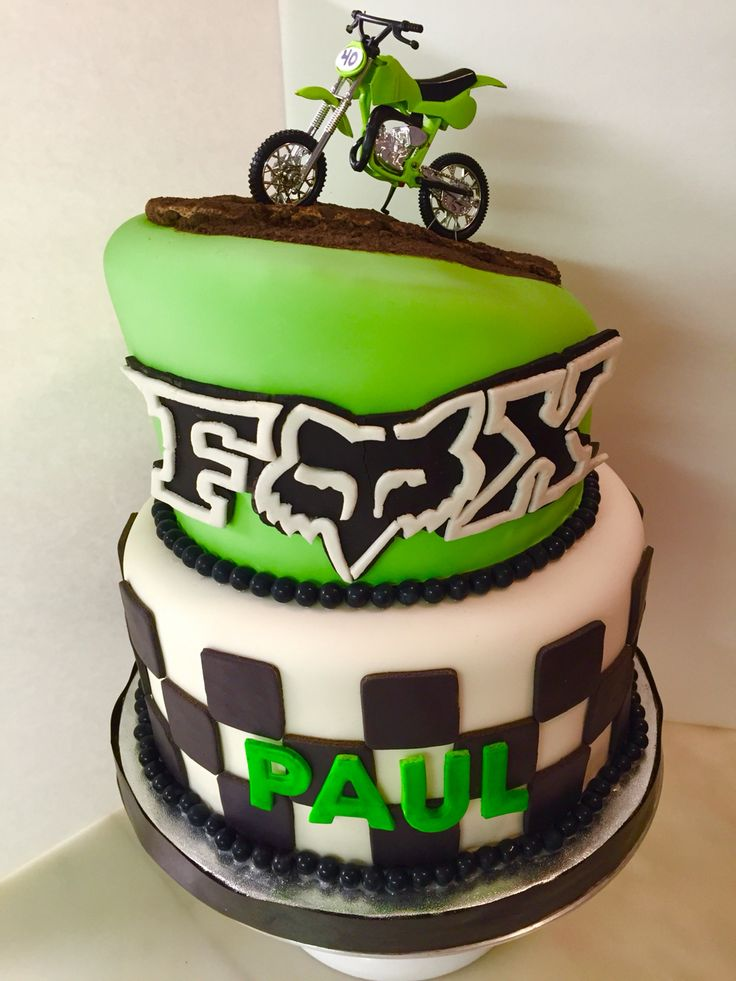 Dirt Biking Fox-Motorcross Cake