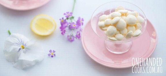 Lemon Vanilla Yoghurt Drops - One Handed Cooks #onehandedcooks