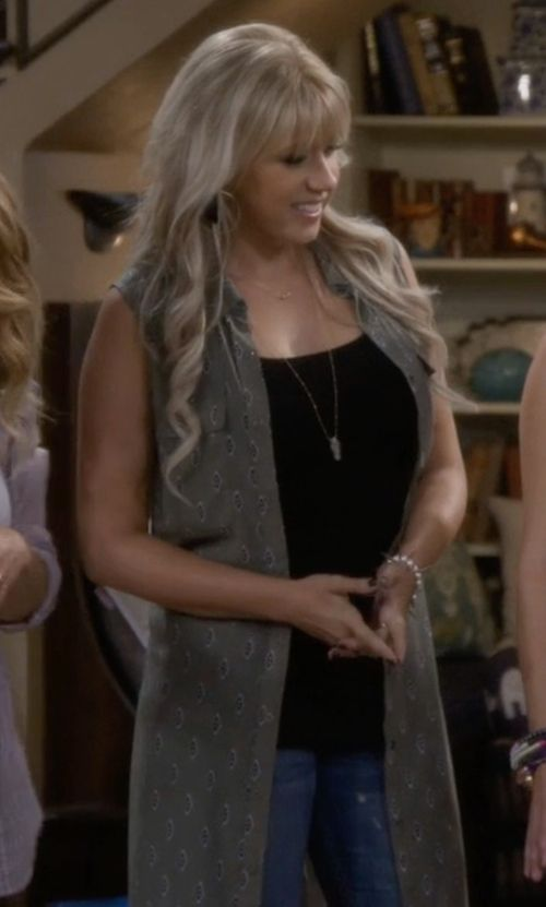 Free People Sheer Trench Sweater Vest inspired by Stephanie Tanner in Fuller House | TheTake.com