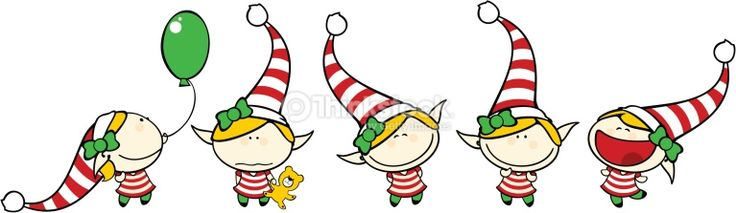 Set of images of funny kids, Christmas theme