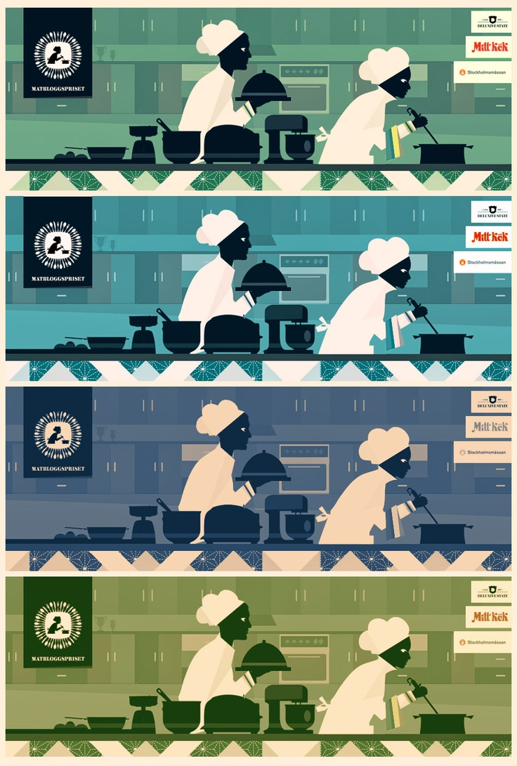 Illustrationer till Matbloggspriset / Illustrations for The Swedish Food Blog Awards (http://www.matbloggspriset.se) By Christopher Anderton  #food #kitchen #illustration #retro #matbloggspriset #matblogg #foodblog #graphics