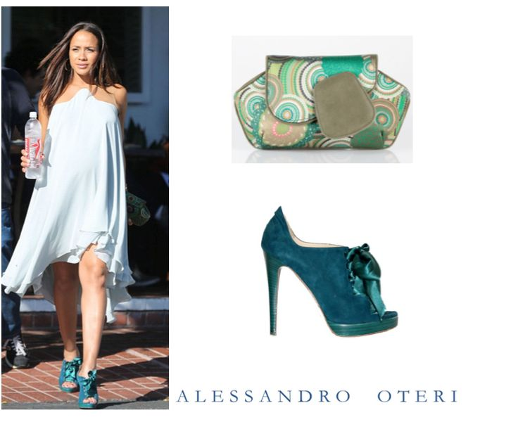 Devious Maids star, Dania Ramirez wearing Alessandro Oteri shoes and clutch in Los Angeles on Oct.14th #deviousmaids #daniaramirez
