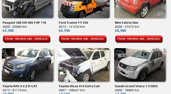 Último servicio de diseño web. Proceso de creación de página web de compra venta de coches accidentados.