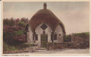 W P Series Postcard - Umbrella Cottage, Lyme Regis