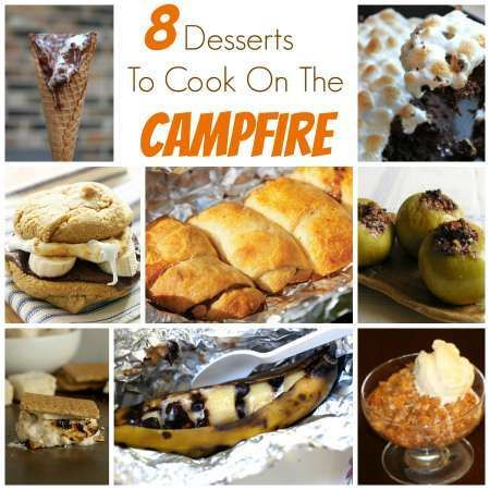 8 desserts to cook on the campfire. Which one is your fav? #camping #dessert
