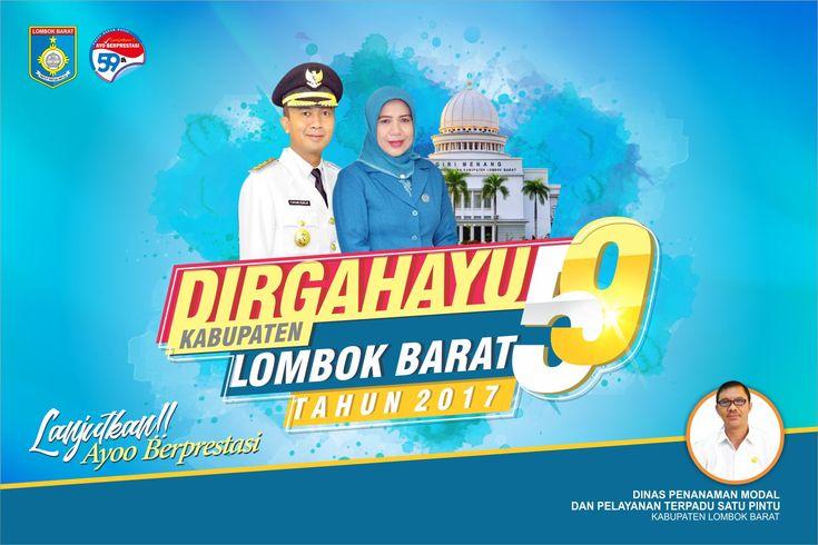 Spanduk Dirgahayu Kabupaten Client : Dinas Perijinan Lombok Barat - NTB