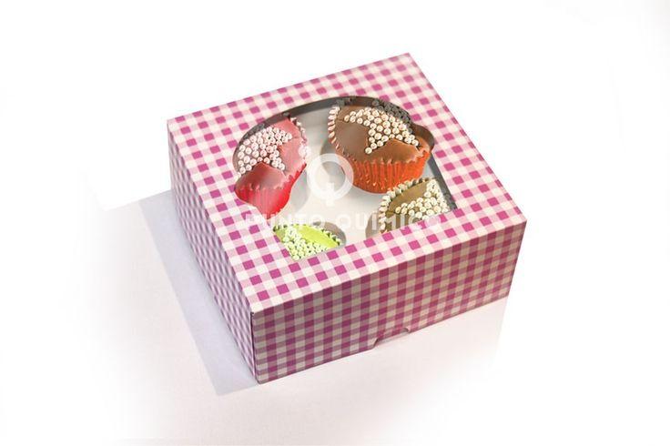 Caja 4 unidades rosa
