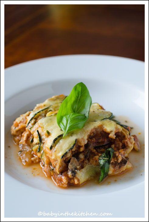 Skinny-Lasagne-Recipe-Zucchine-Chicken-Mushrooms-Cottage-Cheese-Parmesan-Basil
