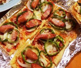 【糖質制限】油揚げのクリスピーピザ