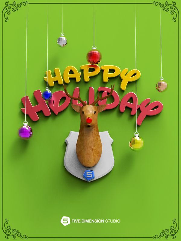 Happy holiday - Christmas 2013 Graphic Design, Visual Effects
