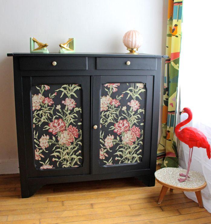 20++ Relooker un meuble avec du papier peint ideas