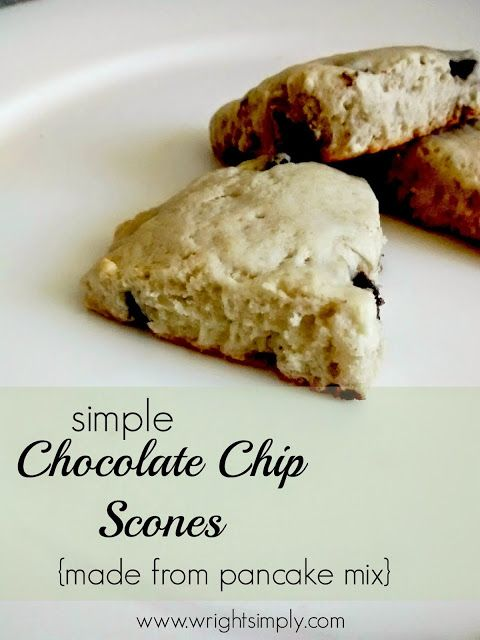 Simple Chocolate Chip Scones {using pancake mix}...Pancake mix scones!