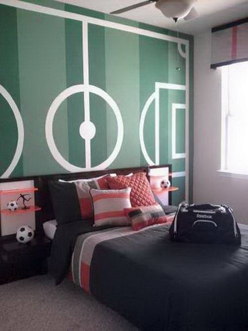 83 best images about grayson 39 s bedroom on pinterest - Soccer murals for bedrooms ...