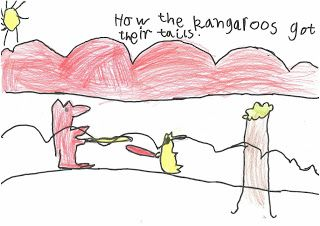 "Australian Curriculum: English Year 1 Sequence This sequence was developed using the literary text, ""How the Kangaroos got their Tails"" by Pamela Lofts"