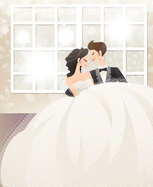 Sweet wedding set 81 vector - Vector People free download