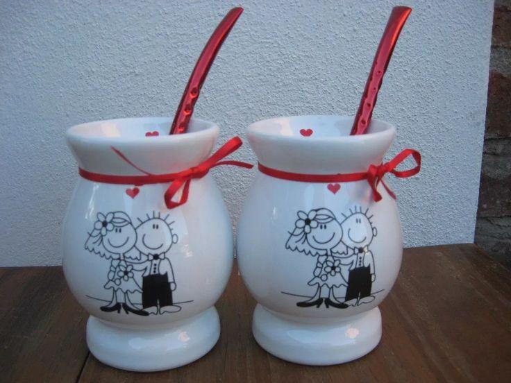 tazas mates hornitos boda casamiento souvenir personalizados