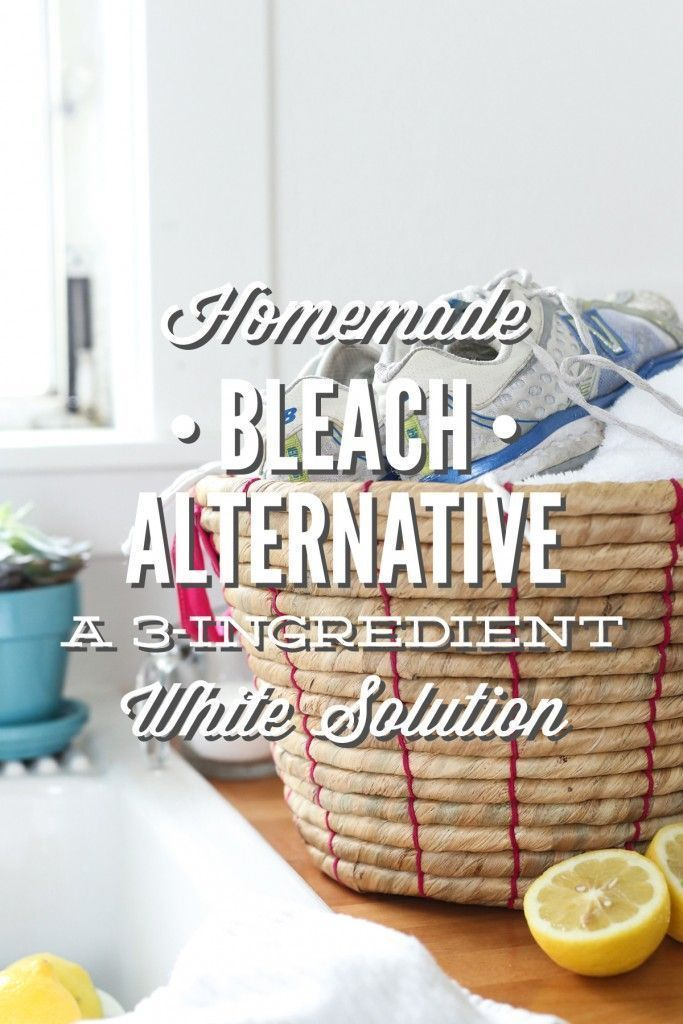 Homemade bleach alternative: natural whitening solution. Your clothes and lungs will thank you!