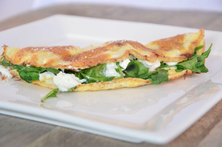 Omelet met spinazie en geitenkaas - HAPPYHAN