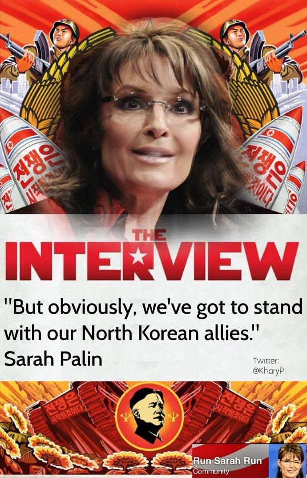 """No current Republican candidates are qualified to be president — & neither am I"" - Sarah Palin"