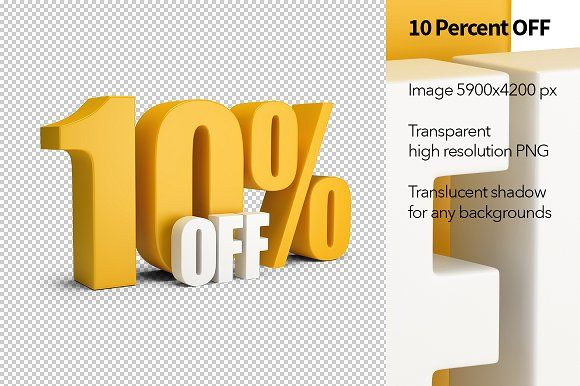 10 Percent Off 10 Things Percents Objects Design