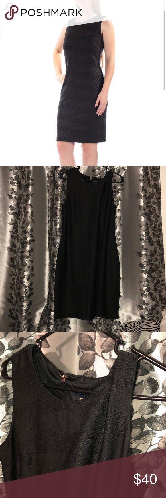 Tommy Hilfiger black dress Tommy Hilfiger textured black dress. size 10 New without original tags Tommy Hilfiger Dresses