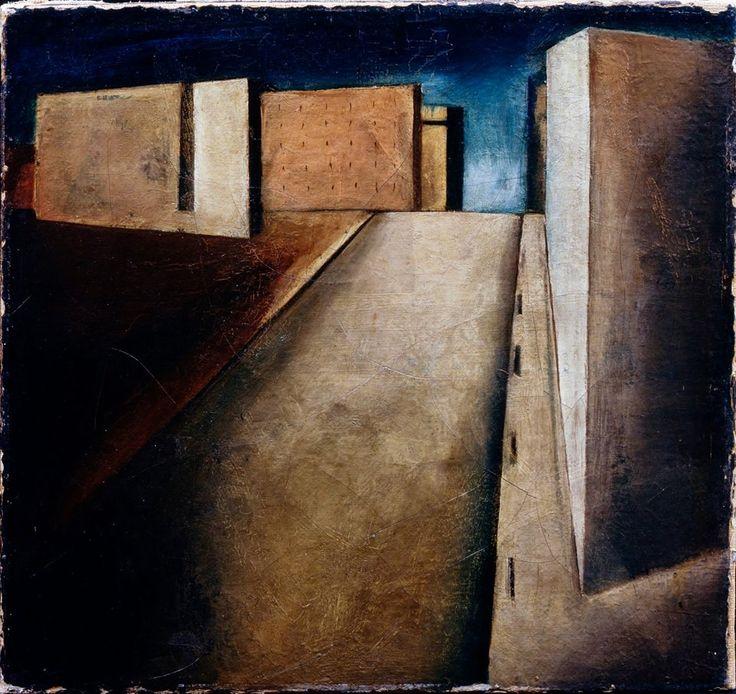 19. Sintesi di paesaggio urbano - Mario Sironi - 1919